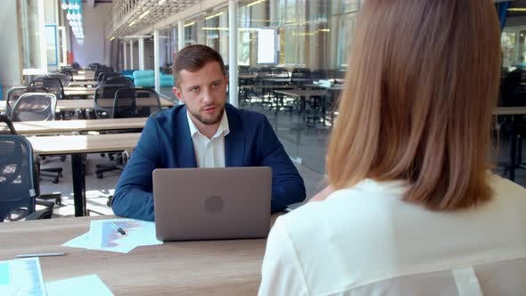 Thumbnail for Business Meeting with Blond Woman