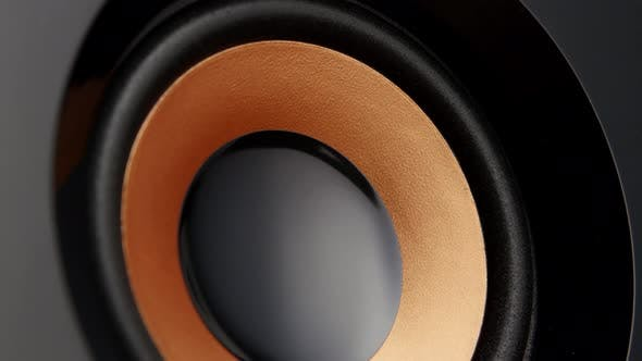 Cover Image for Music System with Speakers, Closeup