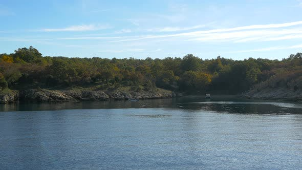 Thumbnail for Rocky shore with trees on Krk Island