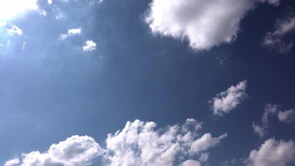 Autumn Cumulus Rain Clouds