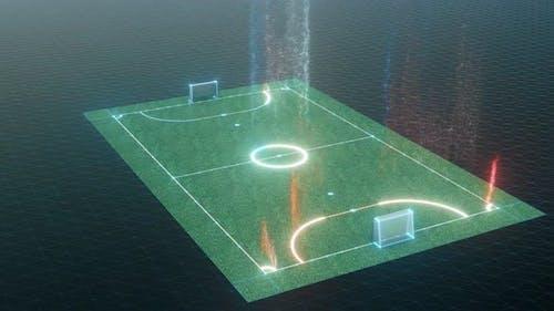 Mini Football Field Hud Hologram 4k