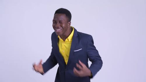 Young Angry African Businessman Shouting and Screaming