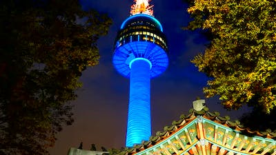 Time lapse of Seoul tower in South Korea
