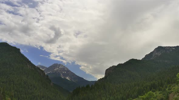 Thumbnail for Thick clouds time-lapse over Timpanogos