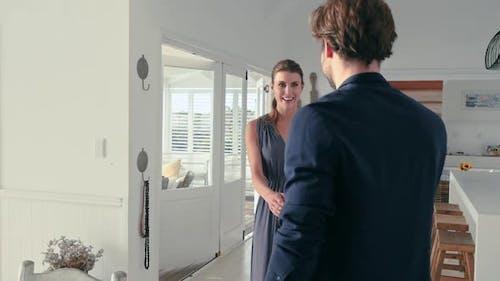 Couple greeting