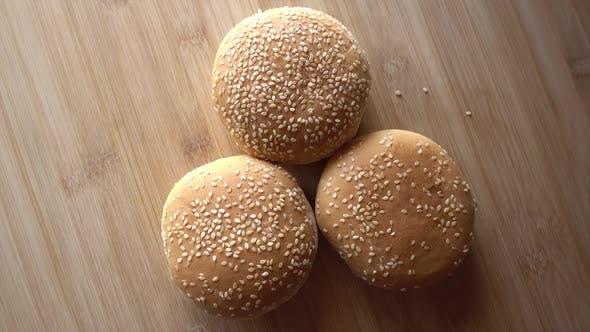 Thumbnail for Three Empty Hamburgers Rotating