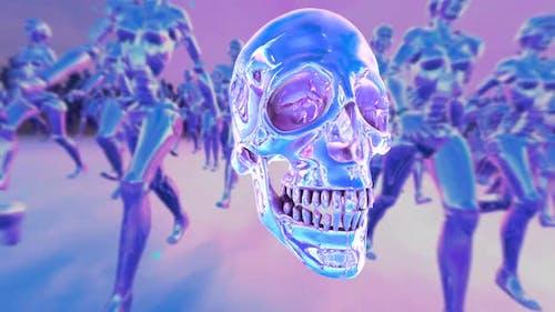 Purple metal skull