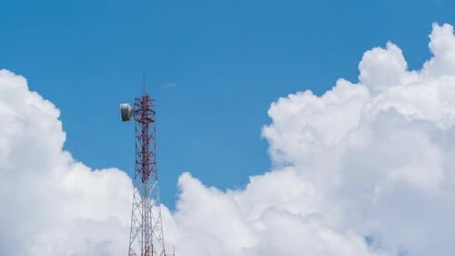 Telecom tower antennas with cloudy