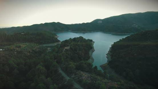 Beautiful Spanish Mountain Lake During Sunset