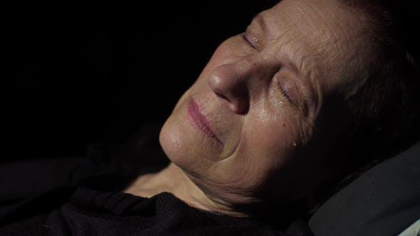 Thumbnail for Woman Crying at Dark Room