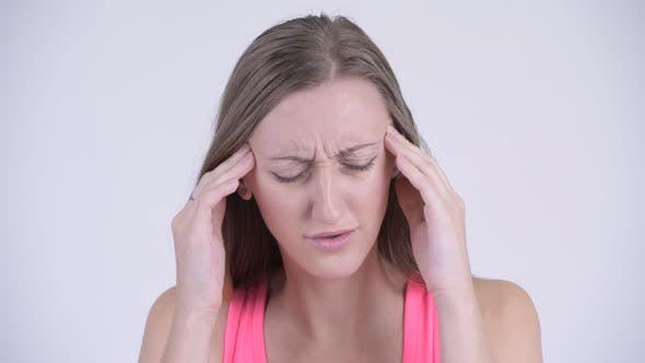 Cover Image for Face of Stressed Blonde Woman Having Headache