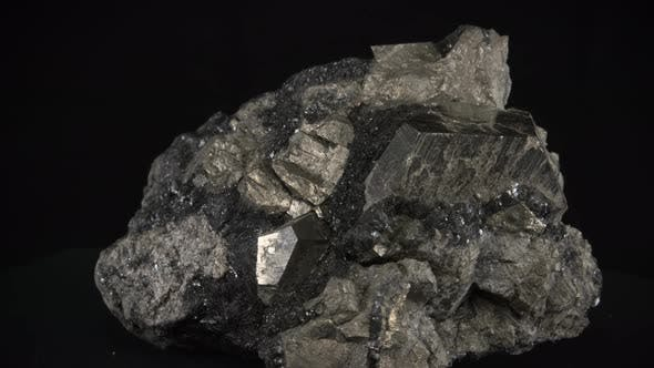 Mineral Pyrite Dodecahedron Loop