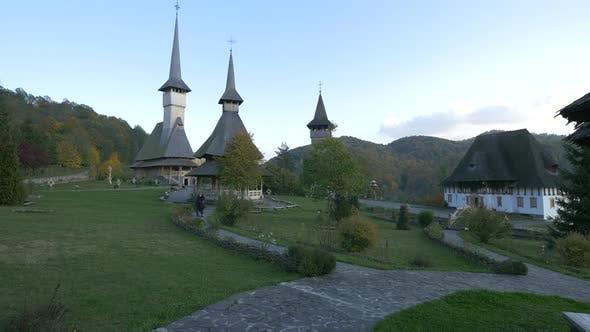 Thumbnail for Barsana Monasterys courtyard