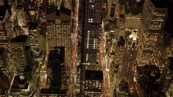 Thumbnail for Night Lights in illuminated City Metropolis