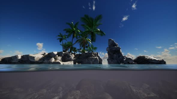 Thumbnail for Brown Muddy Water and Palms on Island