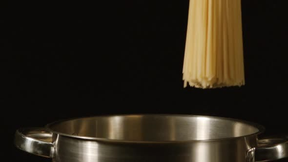 Thumbnail for Bunch Of A Spaghetti Falls In A Steel Pot