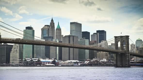 Thumbnail for Brooklyn Bridge and lower Manhattan, New York City, New York, USA