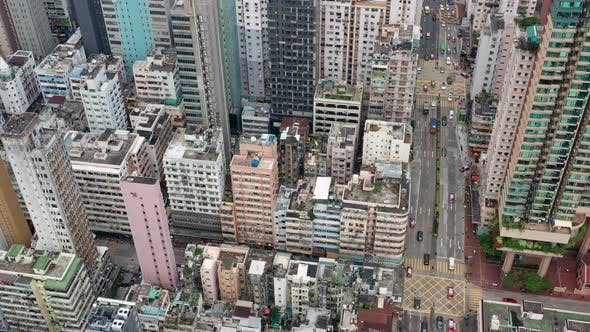 Thumbnail for Top view of Hong Kong downtown city in Kowloon side
