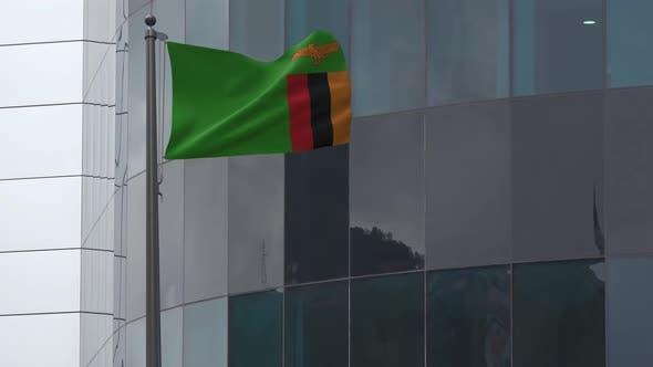 Zambia Flag Background 4K