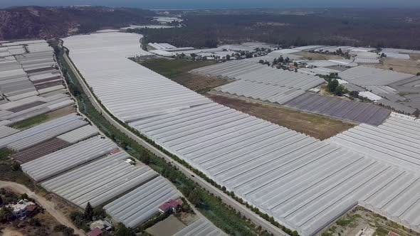 Thumbnail for Aerial View of greenhouses.Turkey.