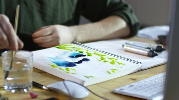 Drawing Picture on Wet Paper