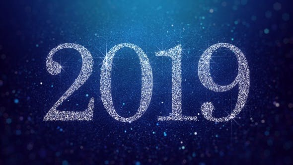 Thumbnail for New Year 2019 Blue Background