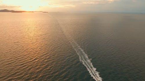 Aerial Sunset Ocean