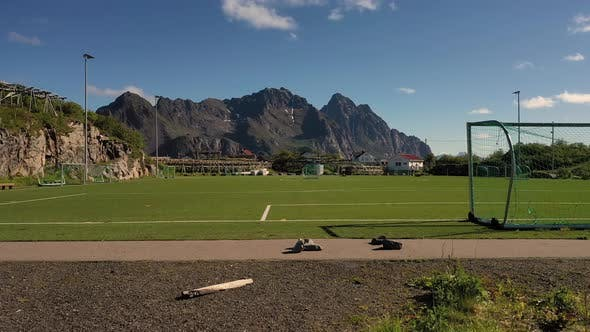 Thumbnail for Norway Lofoten Football Field Stadium
