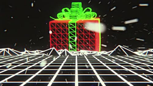 Christmas Outrun Retrowave Background Loop