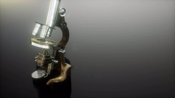 Cover Image for Loop Retro Old Scientific Laboratory Microscope