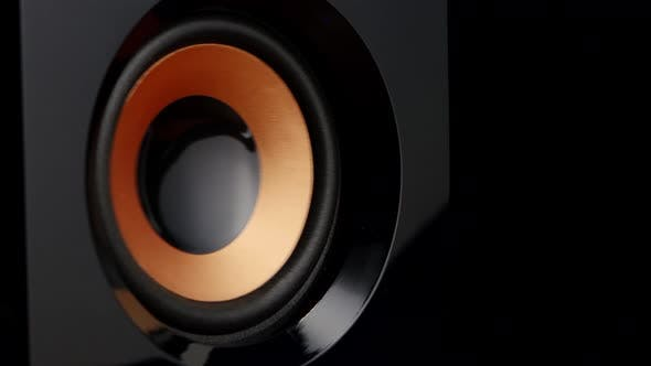 Cover Image for Moving Professional Music Studio Monitor, Closeup