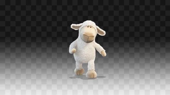 Plush little lamb walks funny