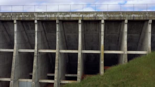 Aerial footage of Oberon Dam in The Central Tablelands in Australia