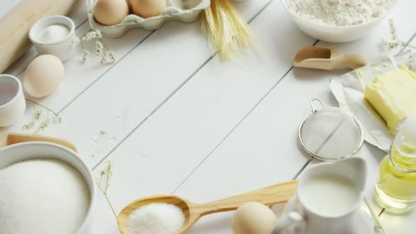 Set of Cooking Ingredients and Tools