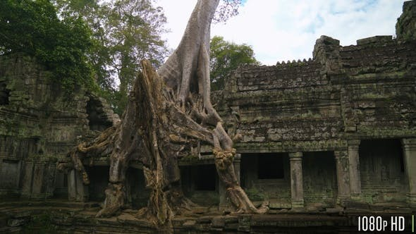 Thumbnail for Preah Khan Ancient Civilization Temple in Siem Reap, Cambodia