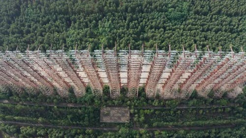 Drone View of Duga, Over-the-horizon Radar System