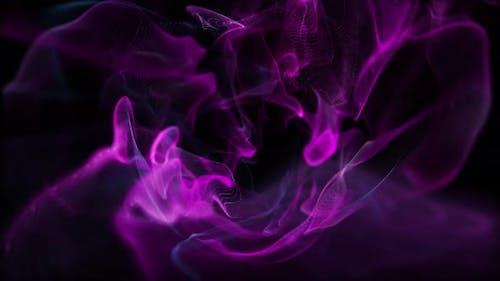 Fluid Particles Award Violet 4K