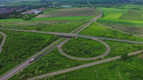 Thumbnail for Aerial View Of Highway Interchange Ukraine
