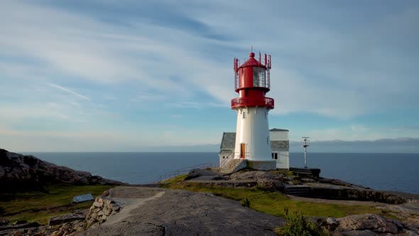 Cover Image for Lindesnes Lighthouse is a Coastal Lighthouse at the Southernmost Tip of Norway