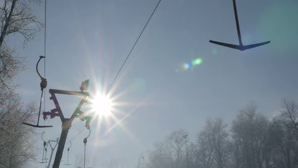 Kraljevica hill ski slopes and early morning   sun 4K 2160p UHD footage - Ski slopes near Eastern Se