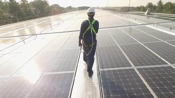 Thumbnail for Worker Solar Roof Dusk