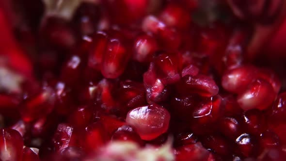 Thumbnail for Ripe Pomegranate Fruit with Bright Maroon Grains
