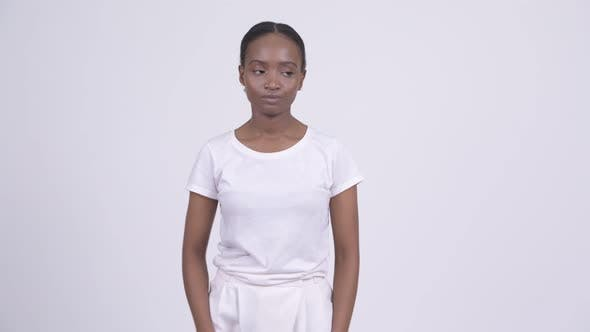 Thumbnail for Young Stressed African Woman Looking Bored and Tired