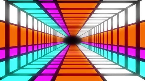 Hypnotic colouful shapes animation