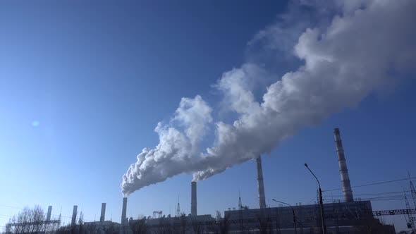 Thumbnail for Air Environment Pollution Industrial Scene. 001