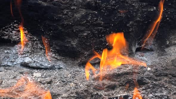 Thumbnail for Natural Burning Stone and Real Gas Source