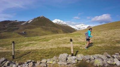 A Runner On The Hillside