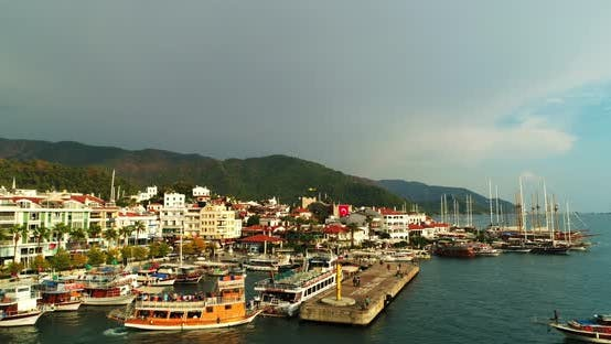 Thumbnail for Marmaris Boats And Helicopter Aerial View