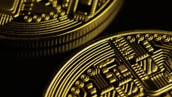 Thumbnail for Rotating shot of Bitcoins
