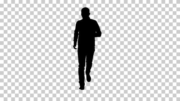 Thumbnail for Silhouette Man running, Alpha Channel